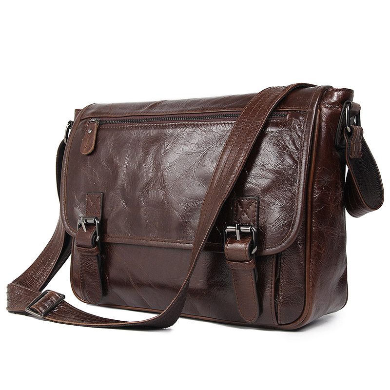 Nesitu High Quality Vintage Casual Coffee Real Skin Genuine Leather Cross Body Men Messenger Bags Shoulder Bag M7022Nesitu High Quality Vintage Casual Coffee Real Skin Genuine Leather Cross Body Men Messenger Bags Shoulder Bag M7022