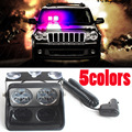 24W Windshield Led Strobe Light S8 Viper Car Flash Signal Emergency Fireman Police Beacon Warning Light Red Blue Amber