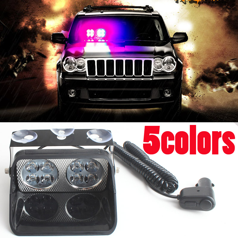 24W Windshield Led Strobe Light S8 Viper Car Flash Signal Emergency Fireman  Police Beacon Warning Light