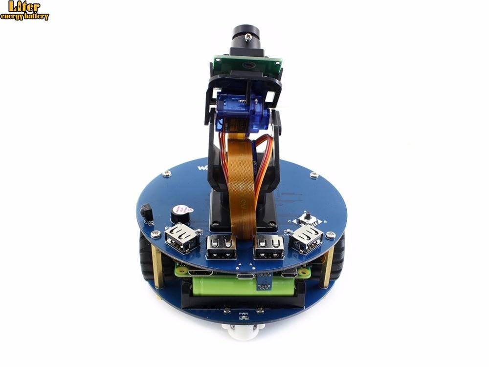 AlphaBot2 Robot Building Kit For Raspberry Pi Zero W (bulit-in WIFI) +Ultrasonic Sensor+RPi Camera (B)+Pi Zero V1.3 Camera Cable