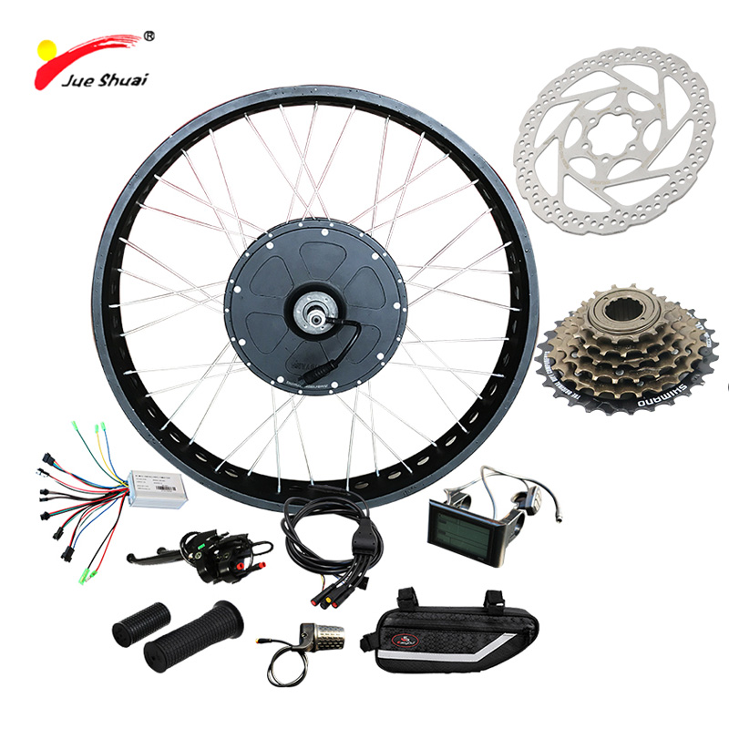 JS Fat Wheel Customized 48V 1000W Electric Bike Kit for Mountain Bike LCD 26 700C Hub Electric Motor for Bicycle Free Shipping