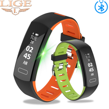 LIGE Smart Bracelet Waterproof Fitness Tracker Bluetooth Sport  Heart Rate Monitor Wristband Pulseira Inteligente