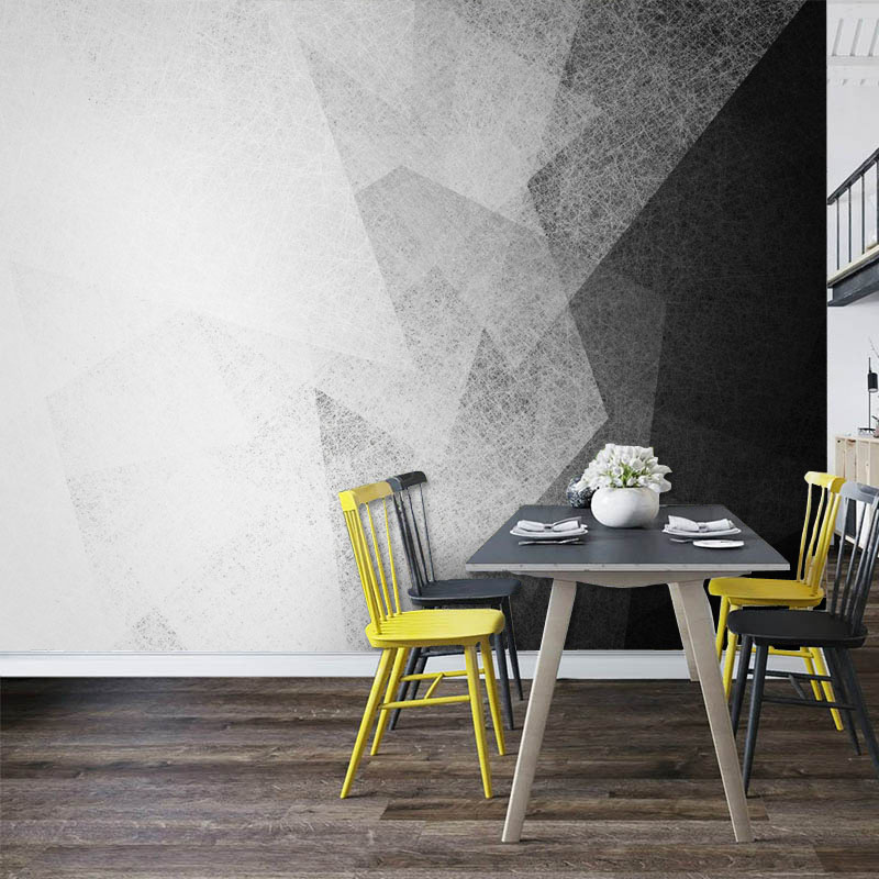Tuya Art nordic wallpapaper 3d look black and white abstract wall mural for living room desktop wall mural wallpaper decor pure green mountain art wallpaper mural on the wall for kid s room wallpaper nursery room wall decor free shipping