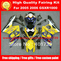 Injection Fairings body kit for Suzuki K5 GSXR1000 2005 2006 GSXR 1000 CORONA 05 06 fairing set with l heatshield