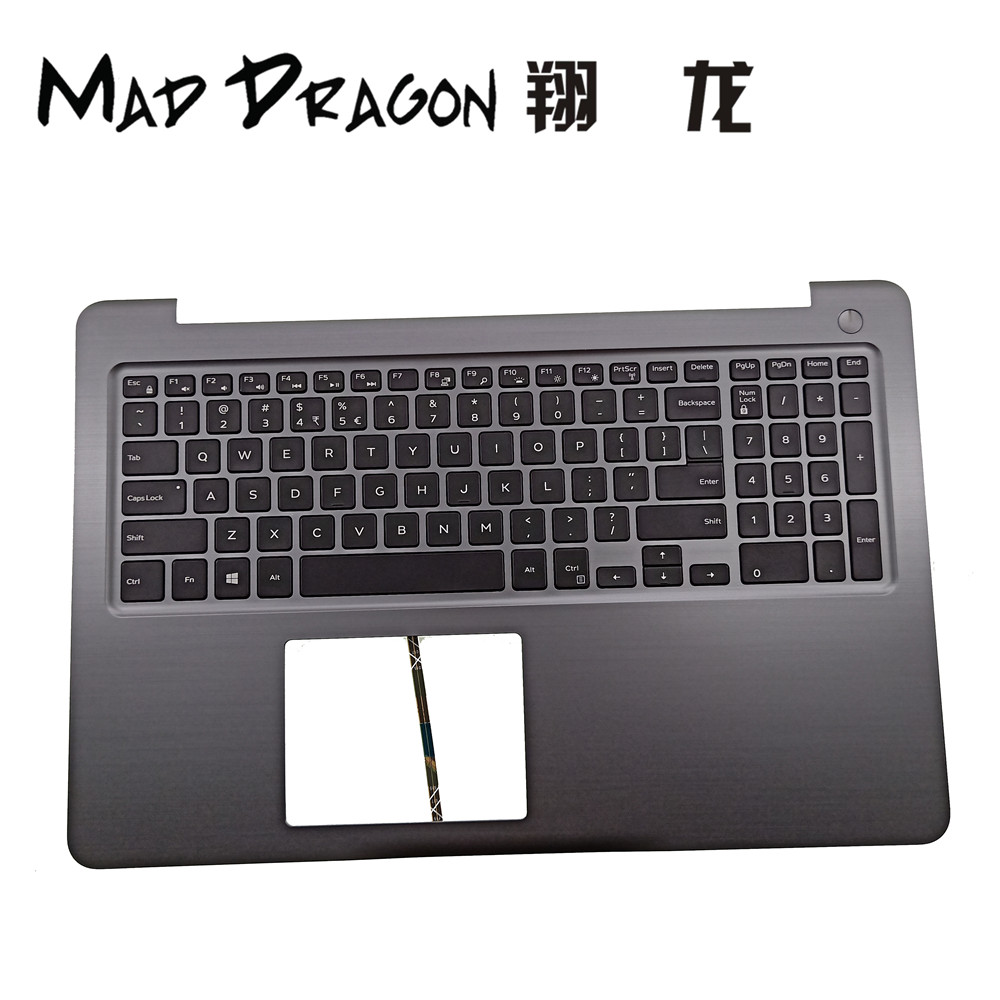 MAD DRAGON Brand Laptop new US keyboard and palmrest Assembly For Dell Inspiron 15 INS15 5565 5567 DPN PT1NY 0PT1NY H9P3P 0H9P3P
