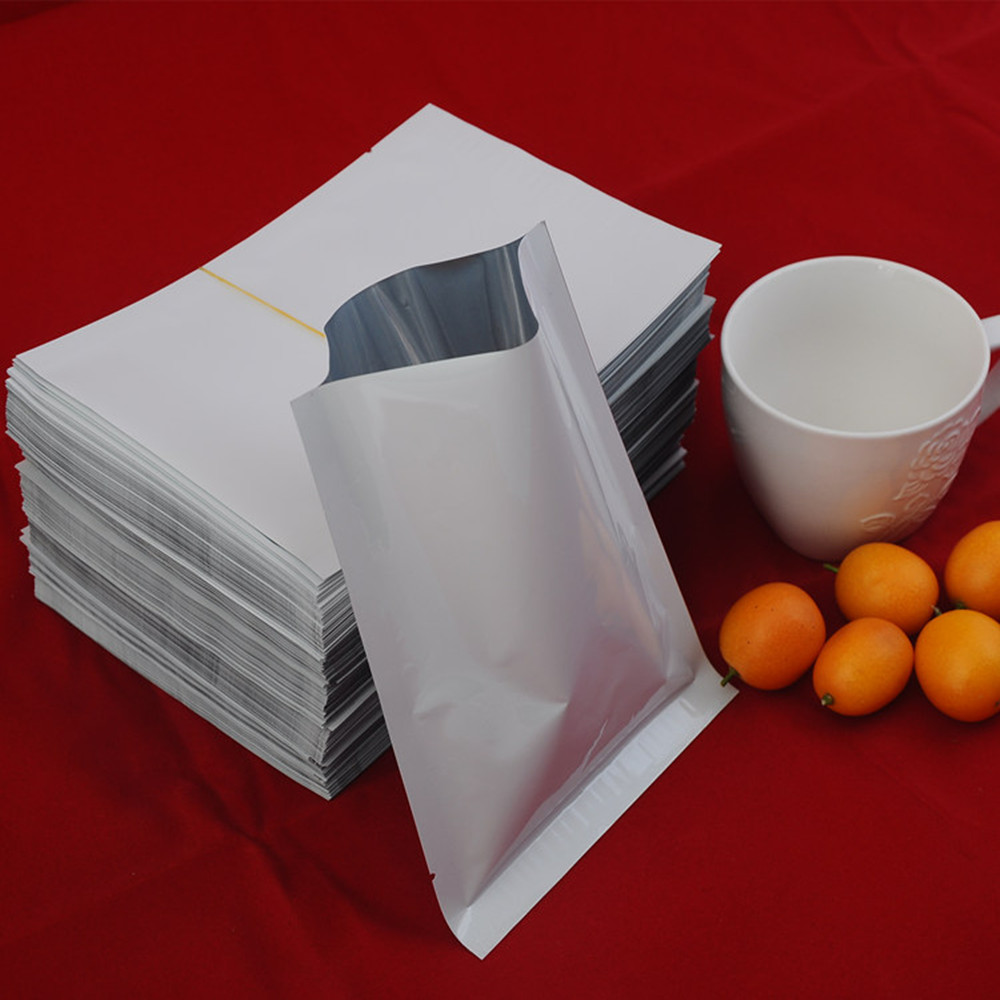 8*12cm(3.1x4.7 ) Top Open White Heat Sealed Plating Aluminium Foil Bag Electronics Packaging Mylar Plastic Pouch 200Pcs/Lot