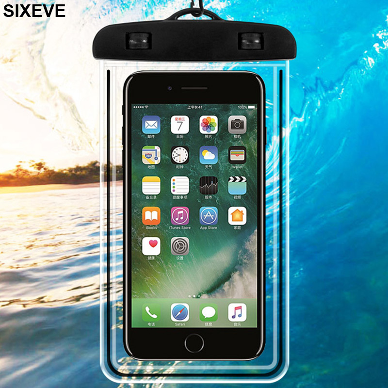Phone Pouch Cellphones & Telecommunications Luminous Waterproof Bag Underwater Pouch Phone Case For Iphone Samsung Galaxy Huawei Xiaomi Redmi Cell Phone Universal All Model