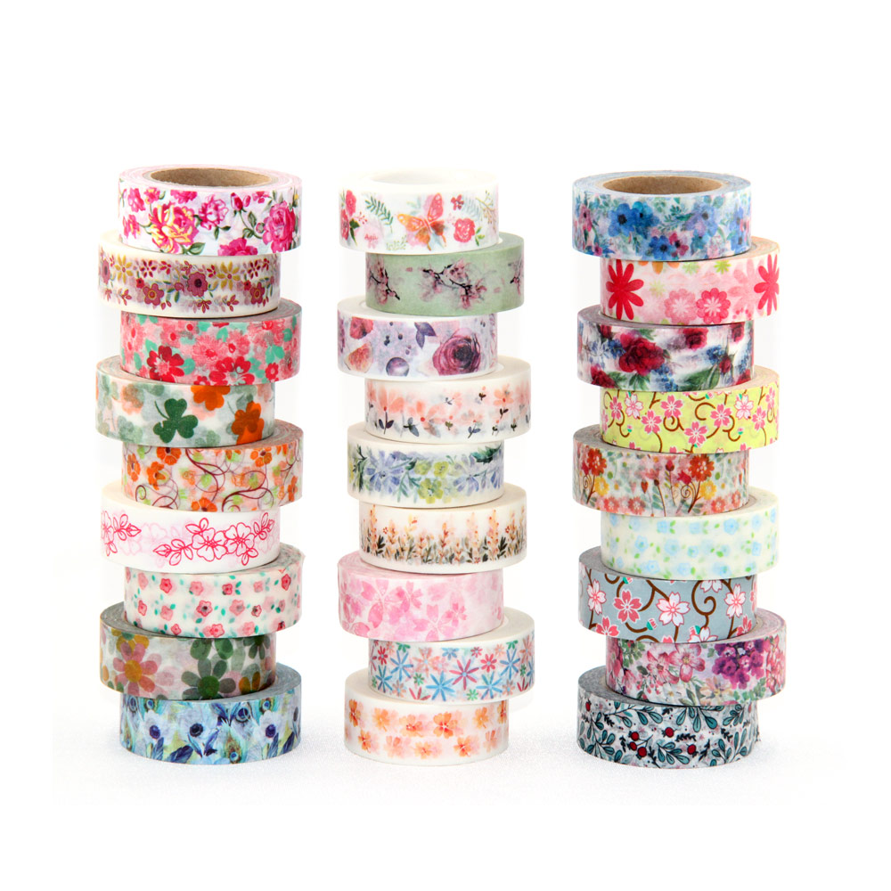 New 1x Hot Stamping Flowers Cherry blossom Japanese Washi Tape Scrapbooking Decorative DIY Masking Tape Office Adhesive Tape 10M blossom flowers