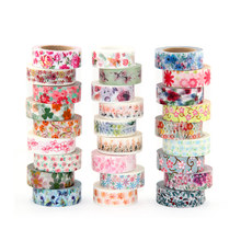 New 1x Hot Stamping Flowers Cherry blossom Japanese Washi Tape Scrapbooking Decorative DIY Masking Tape Office Adhesive Tape 10M цена и фото