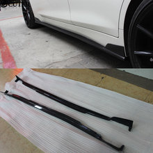 Q50 автомобиль-Стайлинг углеродного волокна авто боковые юбки боковые губы наборы для infiniti Q50 короткая версия 2014UP