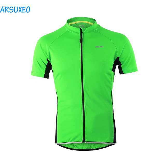 ARSUXEO 2017 Mens Short Sleeves Cycling Jersey Outdoor Sports Bike Bicycle  MTB Tops Riding Breathable Shirts 6b18056fa