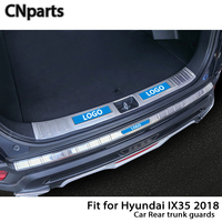 CNparts For Hyundai IX35 2018 Auto Car Rear Trunk Door Bumper Anti Scratch Strips Accessories
