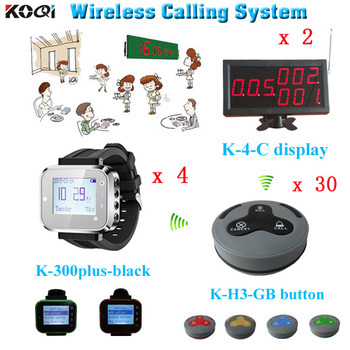 Electronic number display system service call hotel bar KTV 433mhz guest table call button Restaurant waiter buzzer system