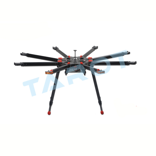 TAROT X8 ALL Carbon TL8X000 8 Axis Octocopter with Electric Retractable Landing Skids and Folding Arm for FPV Photography