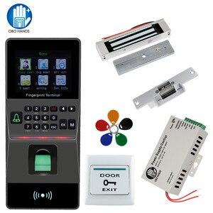 Image 1 - Parmak izi Okuyucu Biyometrik parmak izi kapı kilidi diy kiti desteği Usb Tcp ip RS 485 zaman katılım RFID Erişim Kontrol sistemi