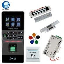 טביעות אצבע קורא טביעות אצבע ביומטרי מנעול דלת diy ערכת תמיכה ip RS 485 זמן נוכחות RFID בקרת גישה מערכת