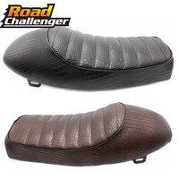 Motorcycle Crocodile Cafe Racer Seat Vintage Hump Saddle Flat pan Retro Seat For Honda Retro CB200 CB350 CB400 CB500 550 750