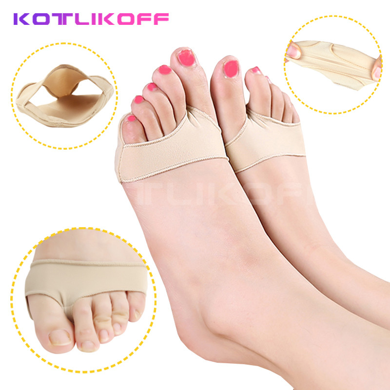 Stretch Nylon Great Toe Cyst Soft Fabric Foot Insoles Pads, Hallux Valgus Guard Cushion Bunion Toe Separator Orthopedic insoles 1pair free size toe straightener big toe spreader correction of hallux valgus pro toe corrector orthopedic foot pain relief