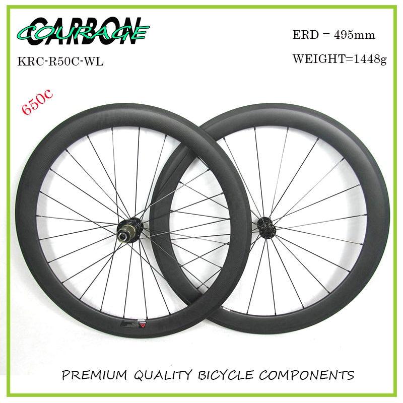 Углерода Колесная углерода колеса велосипеда 50mm довод 650с глубокий Базальт тормозной R13 на ступице колеса дороги углерода колеса 50мм