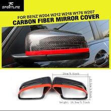 Ersatz Carbon Racing Seite Rückspiegel Deckt Kappen für Benz W204 W212 W218 W176 W207 Auto-Styling