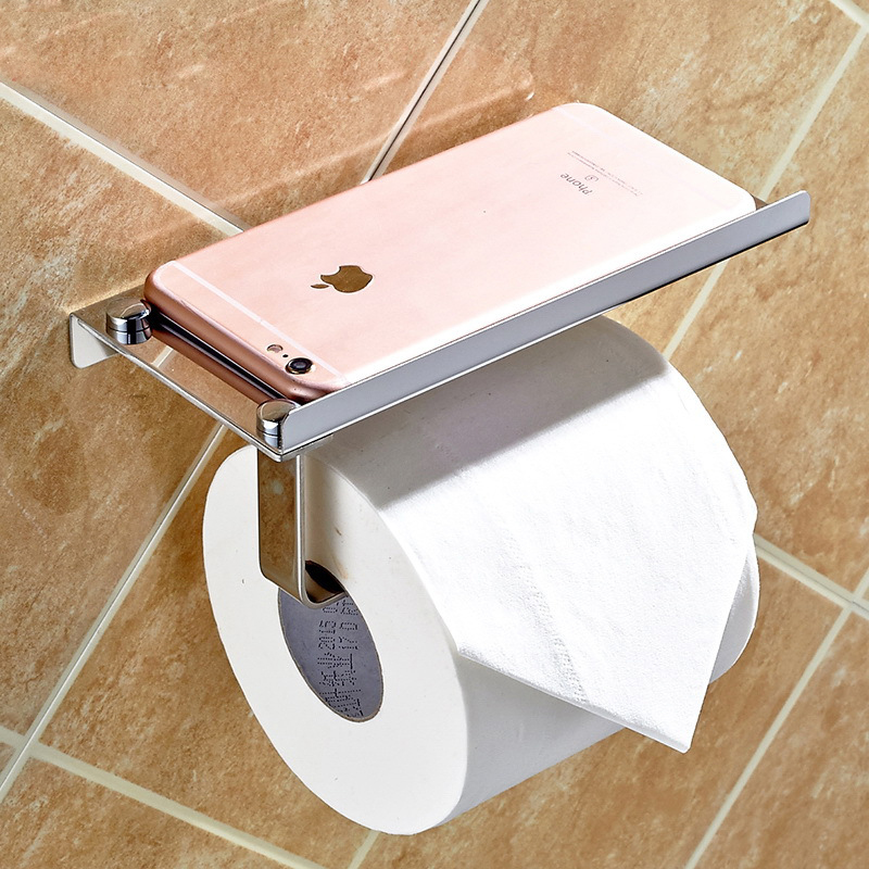 bathroom Paper Holders 304 <font><b>stainless</b></font> <font><b>steel</b></font> <font><b>towel</b></font> rack toilet paper <font><b>towel</b></font> box toilet paper rack can be put on the phone ICD60041