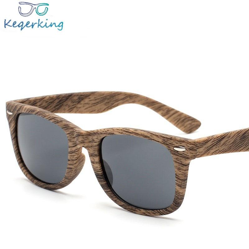 4a5d826995f 2018 Fashion Semi Rimless Imitation Wood Grain Sunglasses Men Women Brand  Designer Half Frame Sun Glasses Classic Eyewear ZB-58