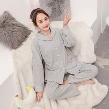 2019 Spring new Maternity thin Nursing clothes Pregnant Women cotton Sleepwear Soft Breastfeeding pajamas 2pcs set for Mom new marenity clothing sleep clothes set pregant underwear women pajamas cotton sets spring summer nursing intimates j9203