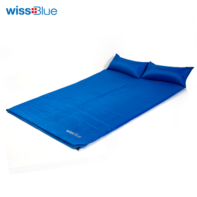 Wissblue Sleeping Mat Mattress Self-Inflating Pad Portable Bed with Pillow Camping Tent Mats Double Person Foldable