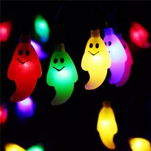 halloween 30 led ghost solar string lights waterproof outdoor solar power string for garden patio yard christmas parties