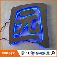 3D наружные рекламные буквы из нержавеющей стали с подсветкой