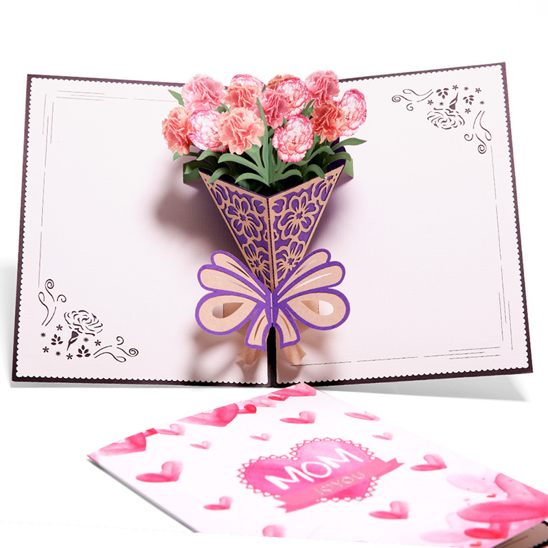 3d pop up greeting cards for mother day gold plated mom i love you 3d pop up greeting cards for mother day gold plated mom i love you greeting cards 3d carnation postcards in cards invitations from home garden on m4hsunfo