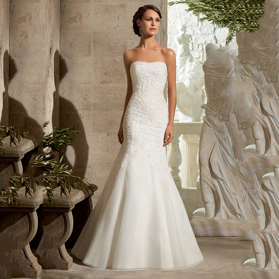 Popular Cheap Lace Fitted Wedding Gowns-Buy Cheap Cheap