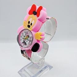 Красивые часы для девочек, детские розовые часы с рисунком Минни, красочные резиновые наручные часы для девочек, детские часы Montre Enfant