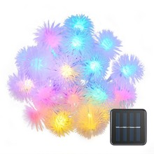 DCOO Puffer Ball Solar String Lights LED IP65 Waterproof Light Indoor Outdoor Decoration For Window Curtain Wedding Christmas
