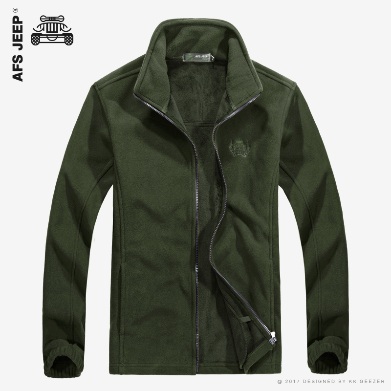 AFS JEEP Autumn Fleece Sweaters Thick Warm Shirt Men Zipper Jackets High Quality Pullover Cashmere Wool Shell Casual Army Coats