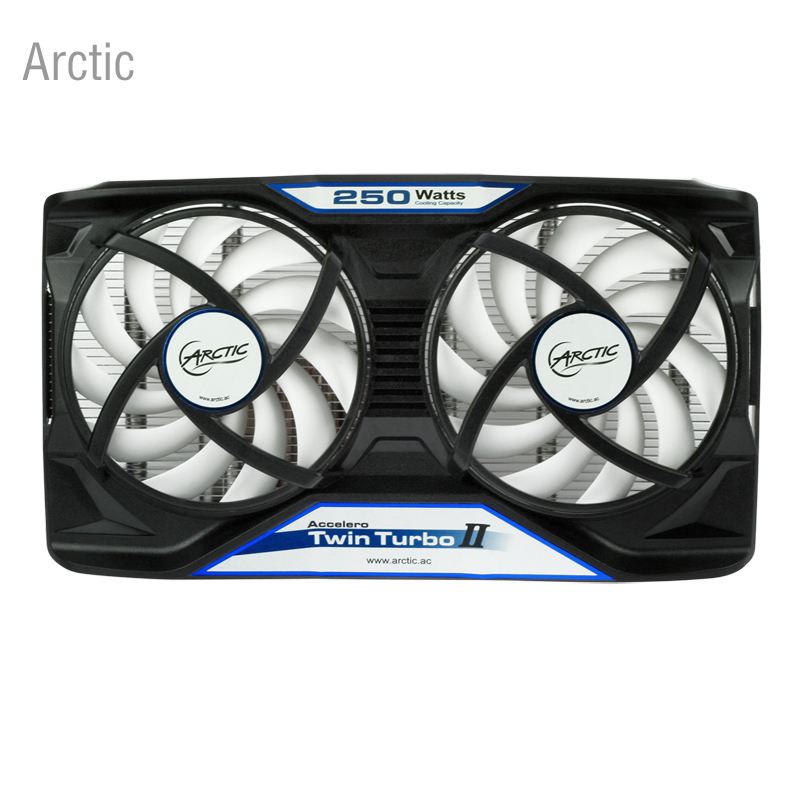 Arctic Accelero Twin Turbo II, dual 92mm Fan video card cooler GTX560 670/660 RX480 75mm pld08010s12hh graphics video card cooling fan 12v 0 35a twin for frozr ii 2 msi r6790 n560gtx r6850 n460gtx dual cooler fan