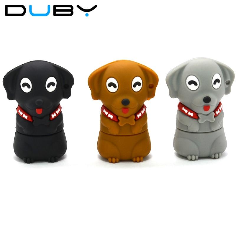2018 usb flash drive Moda cão dos desenhos animados pendrive Polegar u disco flash drive gb 8 4 gb gb 32 16 gb 64usb unidade de memória flash menory