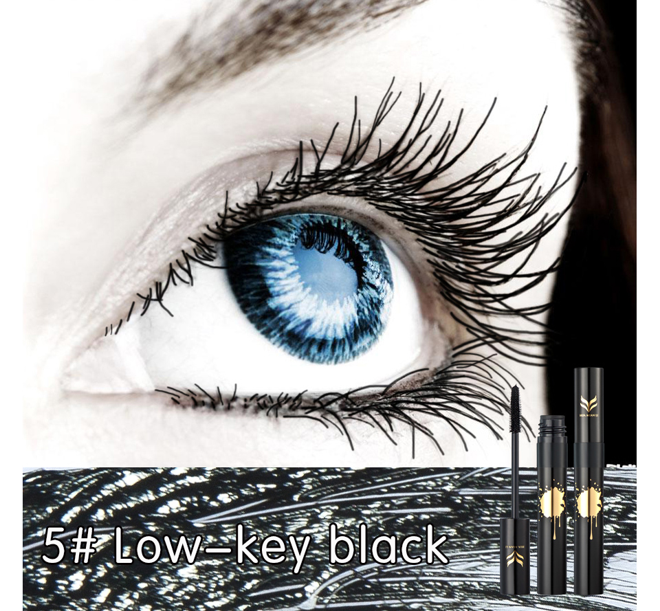 HUAMIANLI Colorful Green Blue Mascara Waterproof Lengthening Curling Eye Lashes Silicone Women Professional Makeup 3D Mascara 11