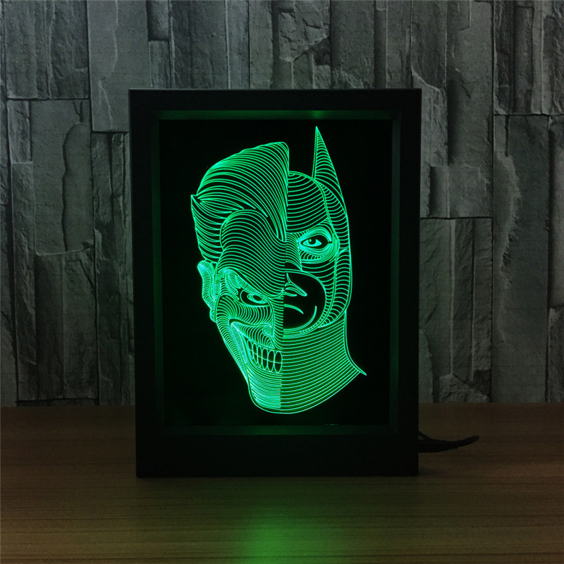 Batman: The Dark Knight Returns Injustice League With LED Light 3D Seven Colorful Touch Remote Control Photo Frame S618 batman legends of the dark knight volume 2