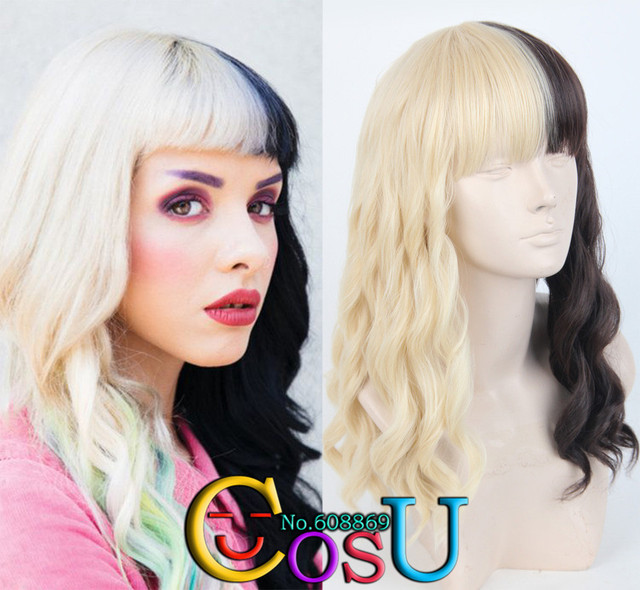 Zeer Wig for Women Melanie Martinez Blonde and Black Brown two Tone &YE03
