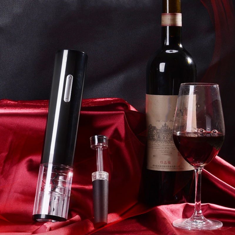 Electric Wine Opener Corkscrew Automatic Wine Bottle Opener Kit Cordless With Foil Cutter And Vacuum Stopper High Quality