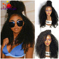 Lace Front Ponytail Wigs High Quality Heat Resistant Synthetic Wig Kinky Curly Synthetic Lace Front Wig For African American