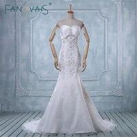 בציר אלגנטי vestido noiva אלגנטיות ואגלי Appliqued סטרפלס כלה שמלת תמונה אמיתית מכירת חמה אסא-015