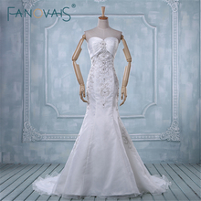 FANOVAIS Vintage vestido noiva Elegant Beading Real Image