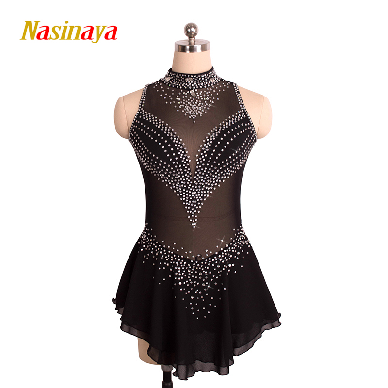 Customized Costume Ice Skating Figure Skating Dress Gymnastics Competition Adult Child Girl Skirt Performance Competition customized costume ice figure skating gymnastics dress competition adult child girl pink skirt performance fold off shoulder
