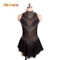 Nasinaya фигурное катание платье заказной конкурс Катание на коньках юбка для девочки Для женщин дети patinaje гимнастика производительность 142