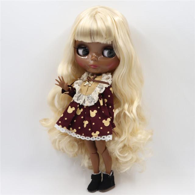 TBL Neo Blythe lutka svijetle zlatne kose spojena tijela