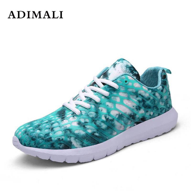 Round Toe Mixed Colors Sneakers Female Flats Shoes Brand Fashion Woman Breathable Mesh+Genuine Leather shoes Women Flat Loafers