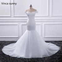 Vestido De Noiva 2017 Champagne Lace Mermaid Wedding Dresses Off The Shoulder Beaded Wedding Gowns 2017