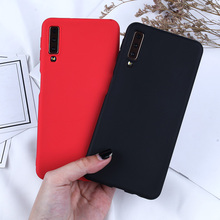 купить For Samsung Galaxy A7 2018 Case Candy Case For Samsung A3 A6 A8 A5 A7 2017 A50 A6 A8 Plus 2018 Silicone Soft Phone Back Cover дешево